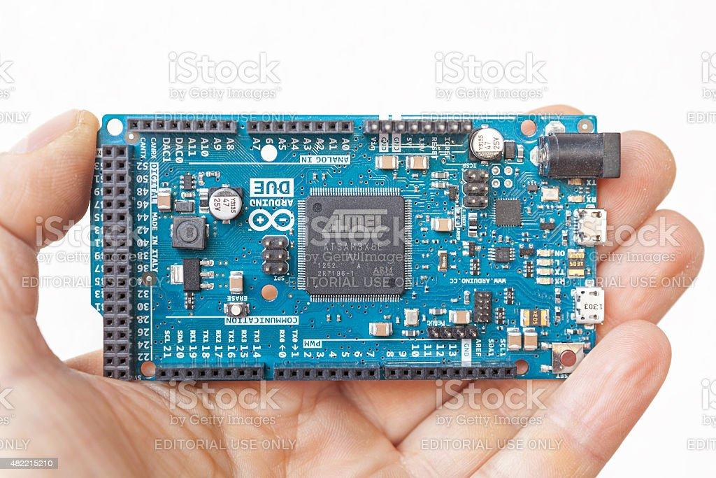 Arduino Due stock photo