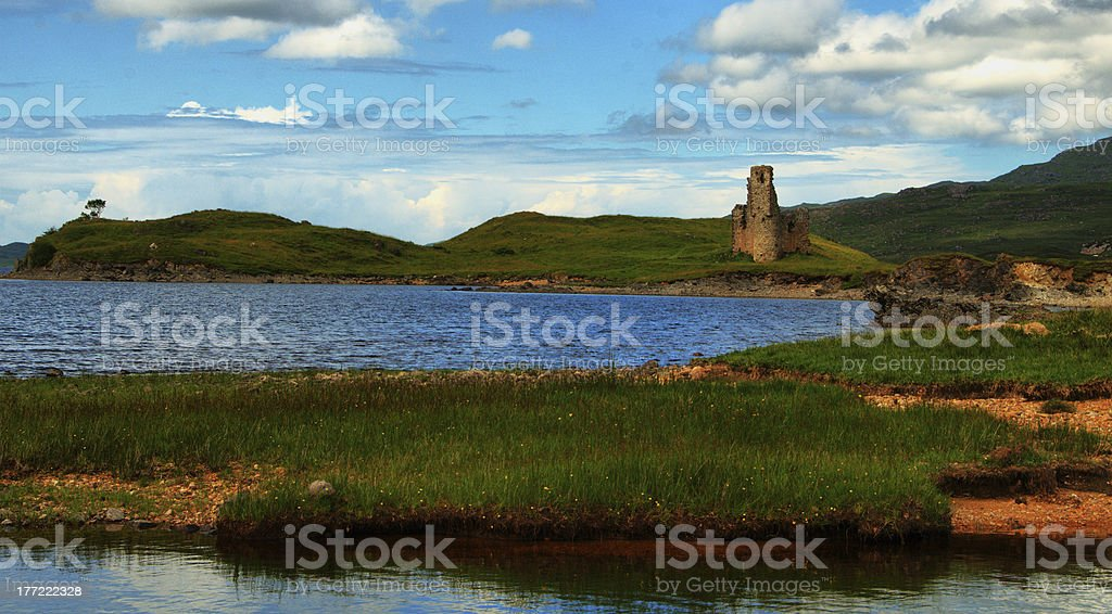 Ardvreck Castle royalty-free stock photo