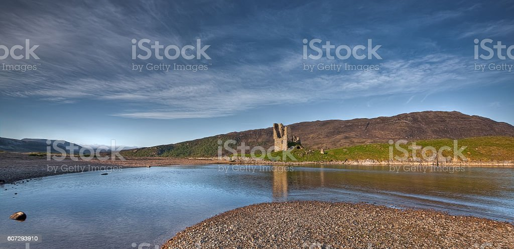 Ardvreck castle reflections stock photo
