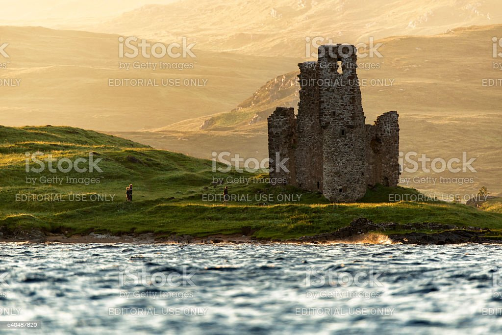 Ardvreck Castle,Scotland stock photo