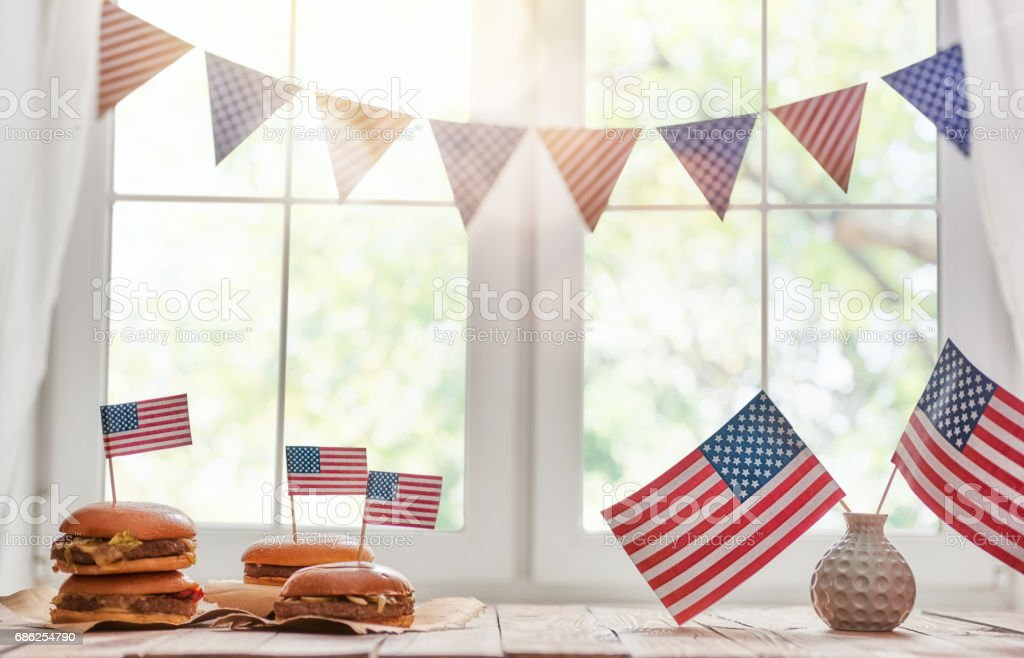 USA are celebrate 4th of July stock photo