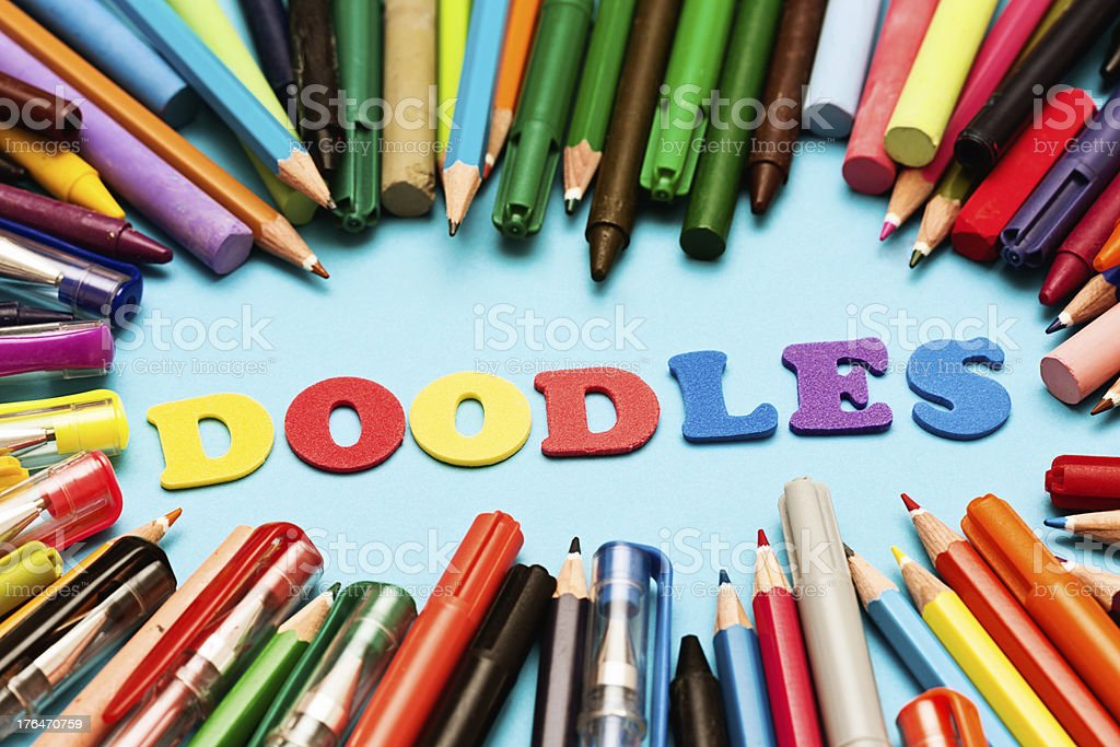 DOODLES are fun, creative, and help you think royalty-free stock photo
