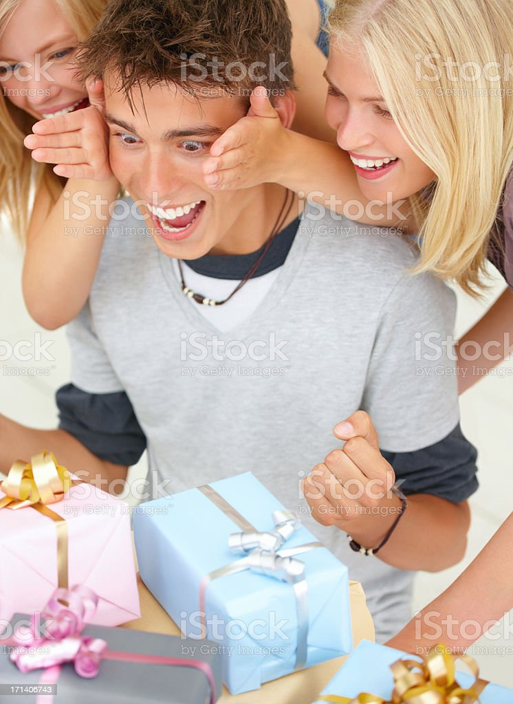 Are these all for me?! royalty-free stock photo