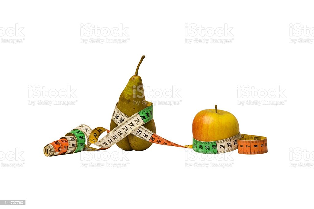 Are you an apple or a pear? stock photo