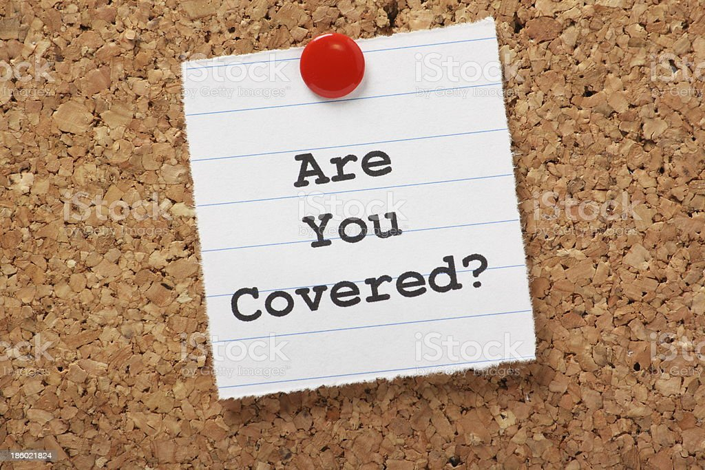 Are You Covered? royalty-free stock photo