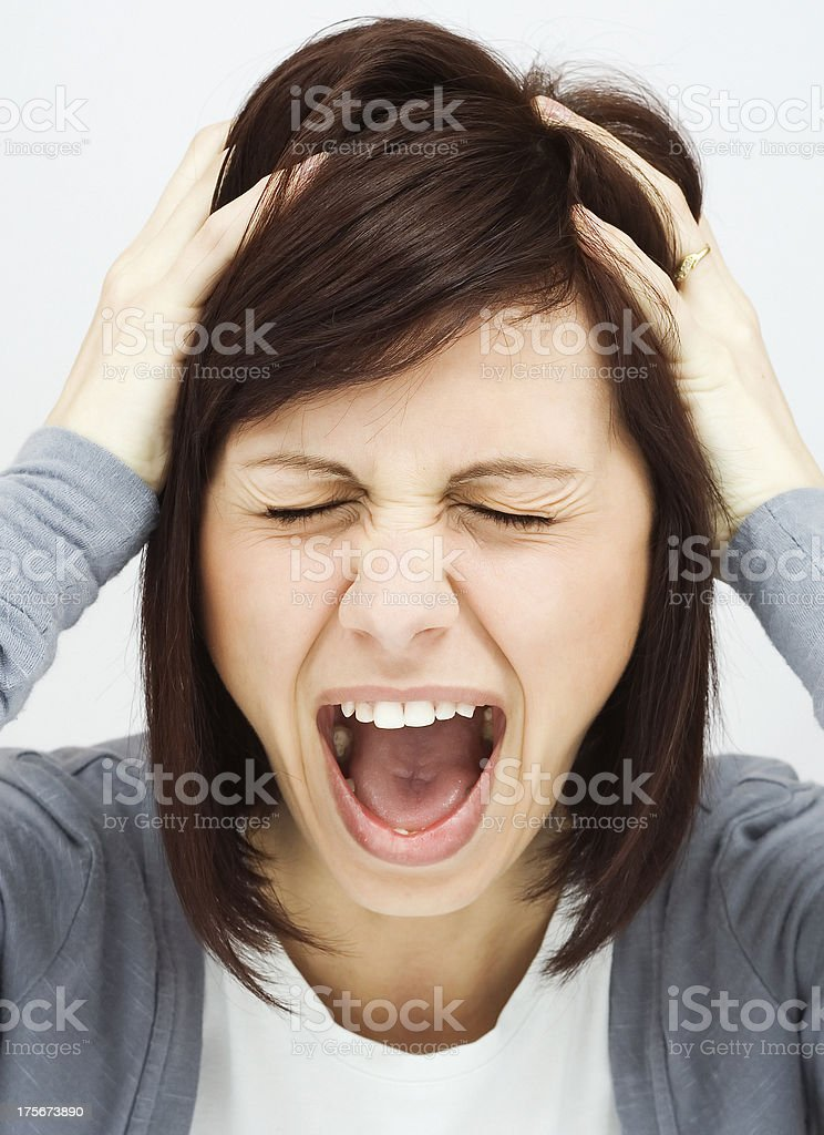 Are you crazy woman royalty-free stock photo