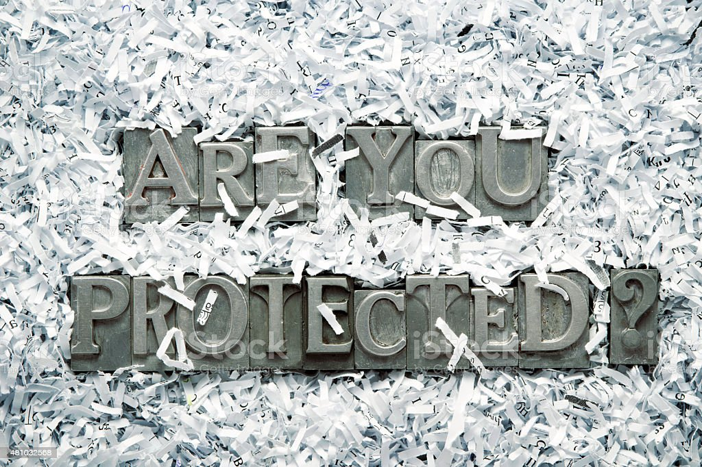 are you protected stock photo