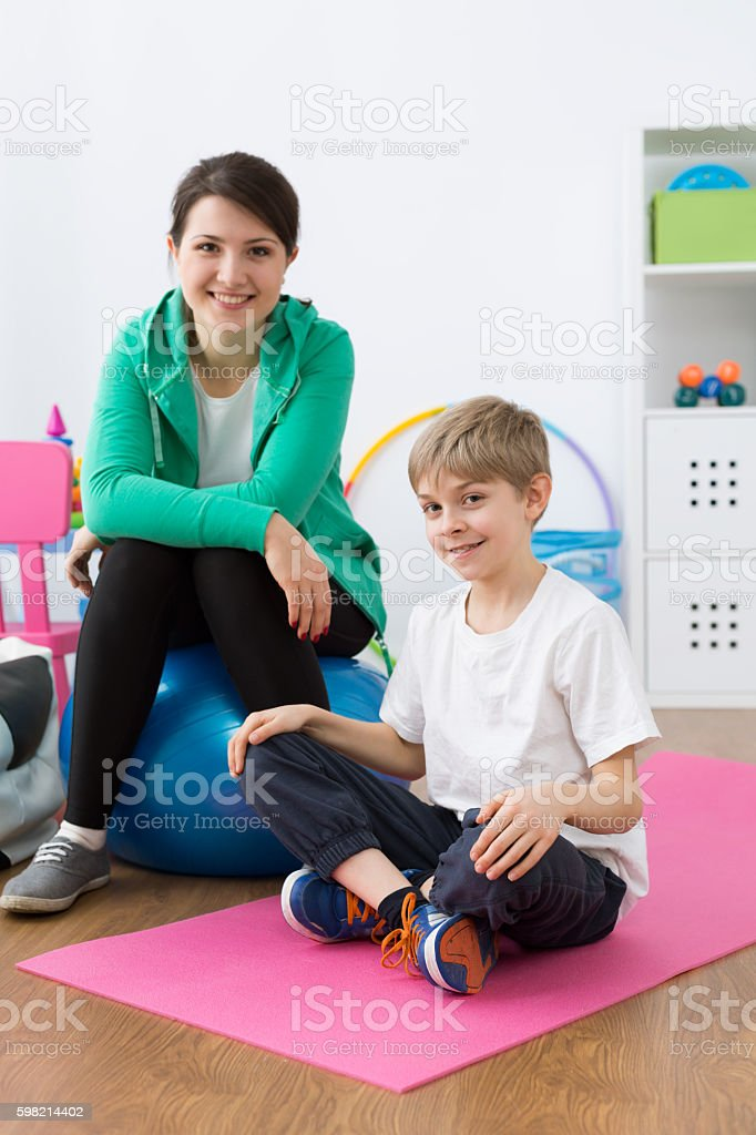 Are you ready to start gymnastic exercises? stock photo