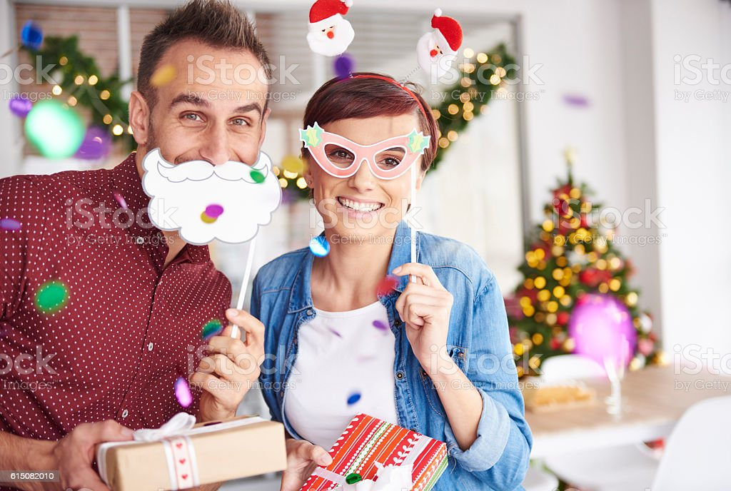 Are you ready to unwrap your presents stock photo