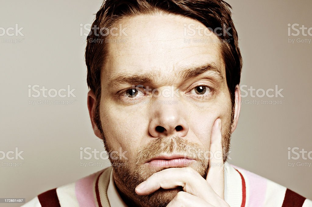 are you serious man royalty-free stock photo