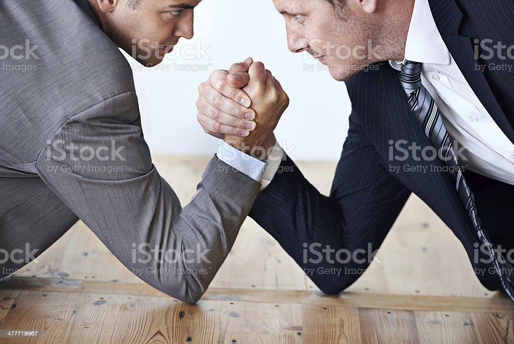 Are you up to the challenge? stock photo