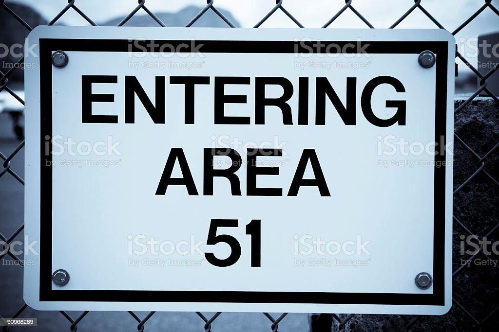 Area 51 royalty-free stock photo