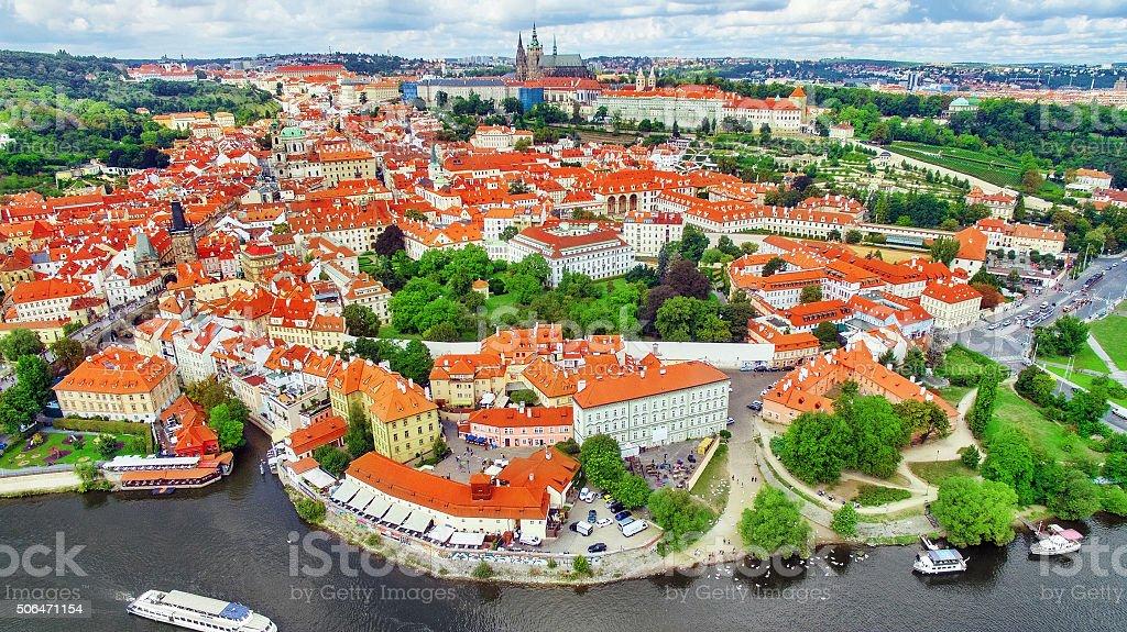 Area Lesser Town of Prague, near the church Saint Vitus. stock photo