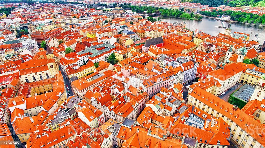 Area Lesser Town of Prague(Mala Strana) stock photo
