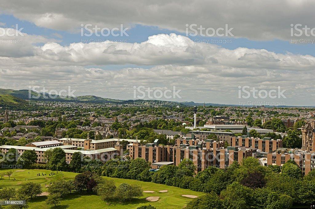 Area of Edinburgh royalty-free stock photo