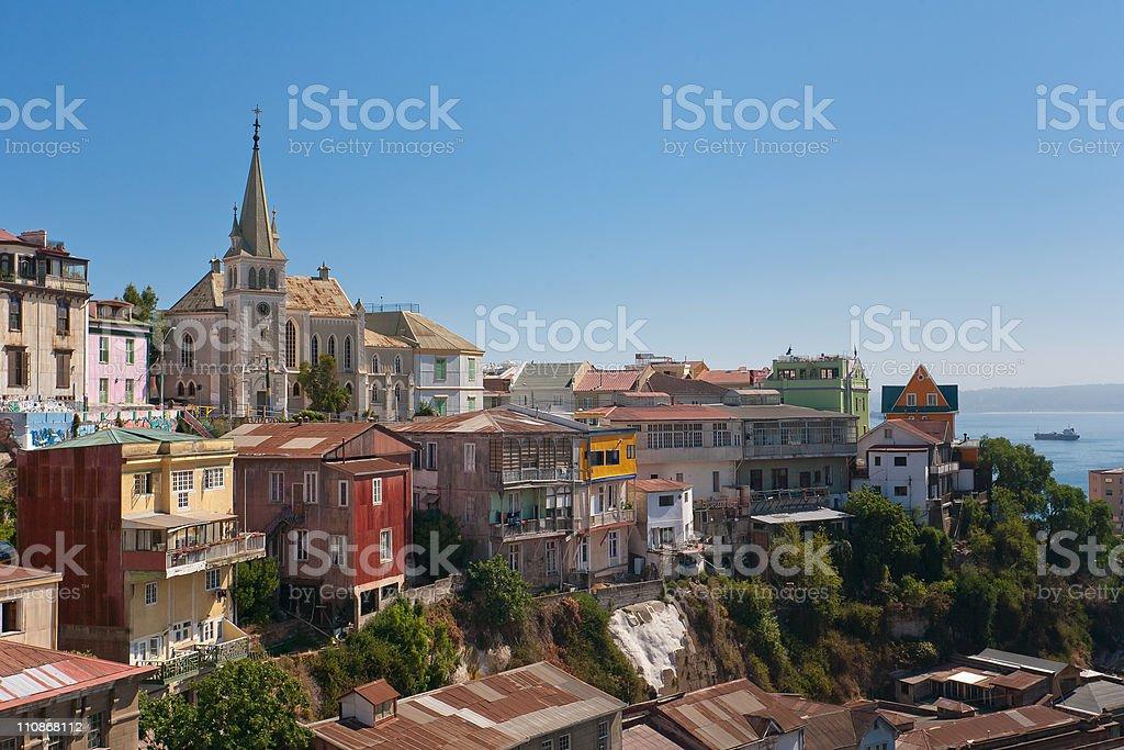 Area of Valparaiso, Chile stock photo