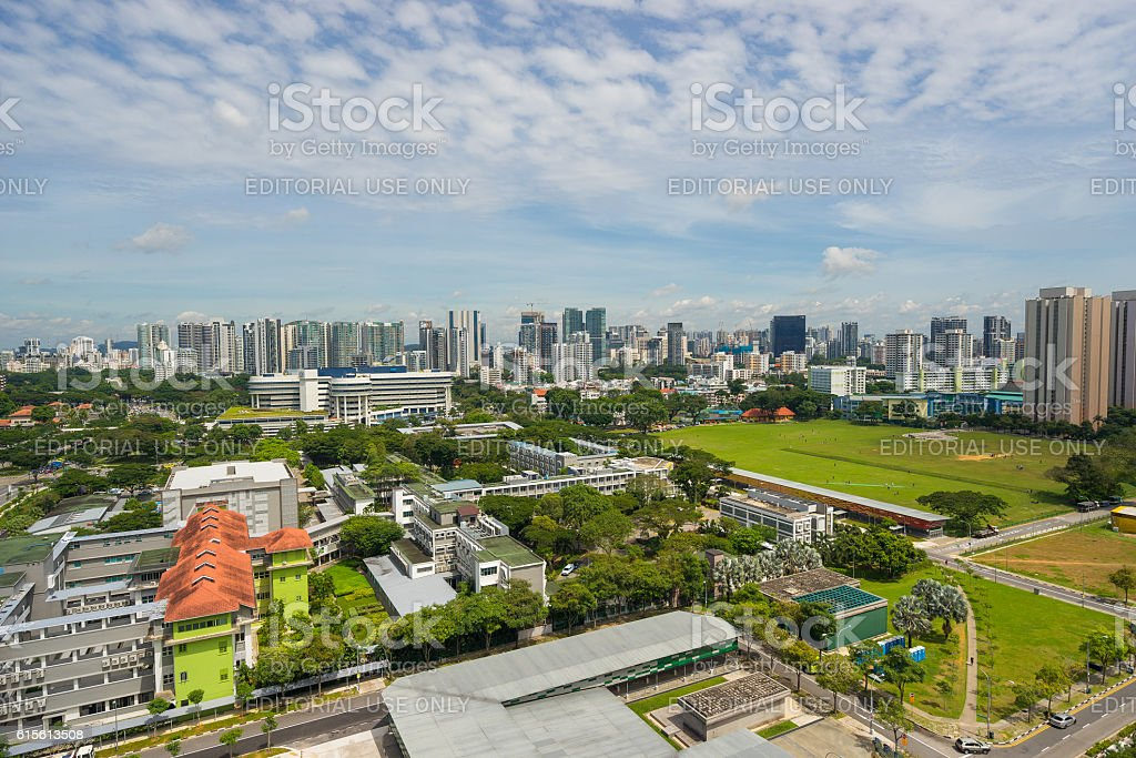 Area view of old Little India town, Singapore stock photo