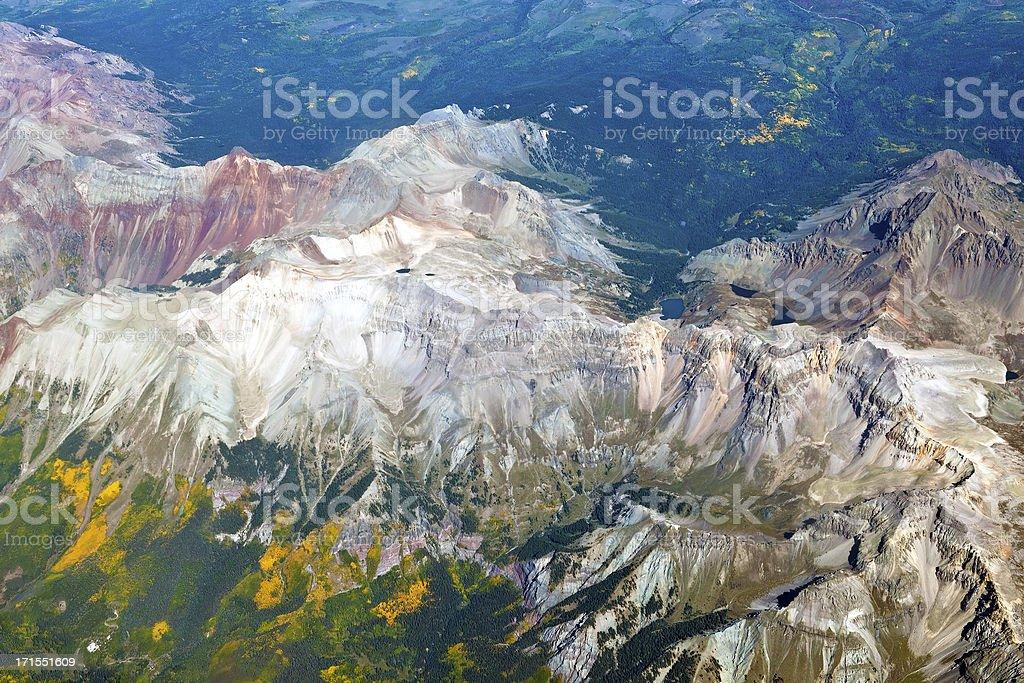 Areal View of Colorado Mountains USA royalty-free stock photo
