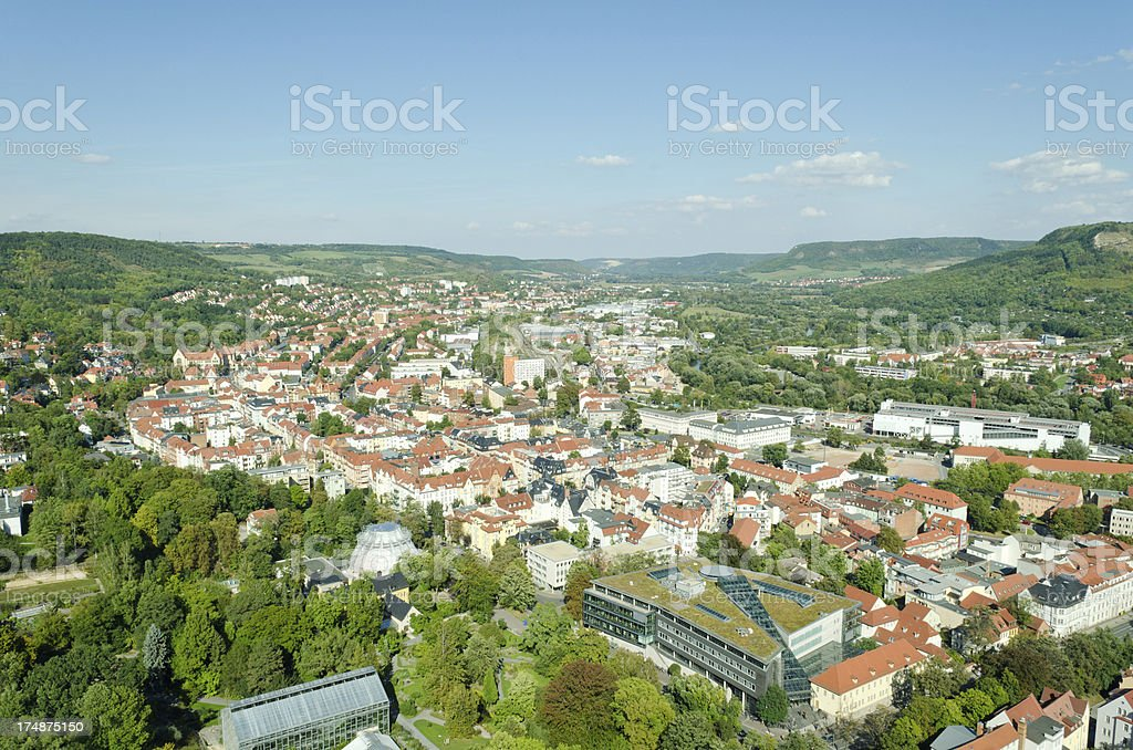 areal view over Jena - Germany royalty-free stock photo