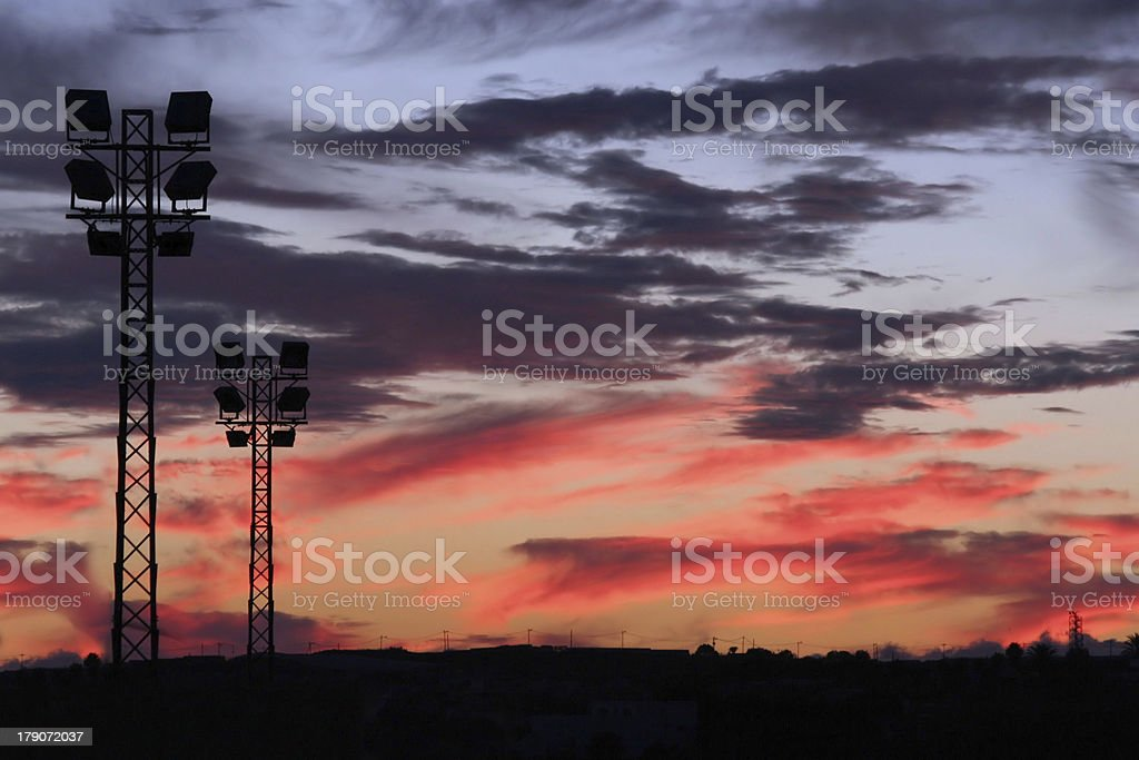 'Areas in the Sunset' royalty-free stock photo