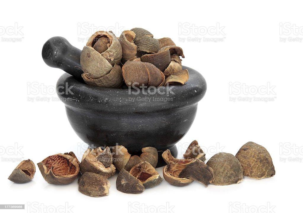 Areca Peel Herb royalty-free stock photo