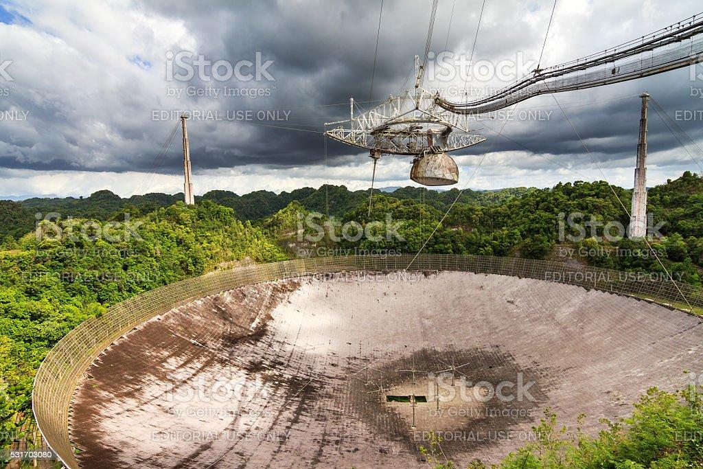 Arecibo Observatory Puerto Rico stock photo