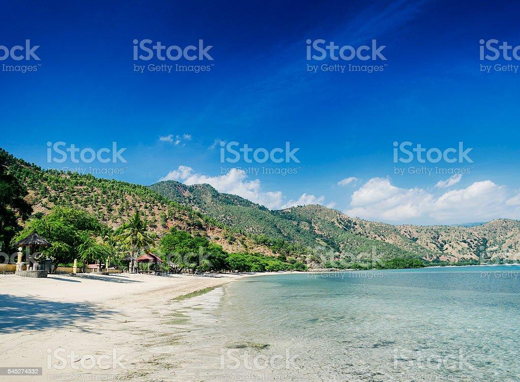 areia branca beach and coastline near dili in east timor stock photo