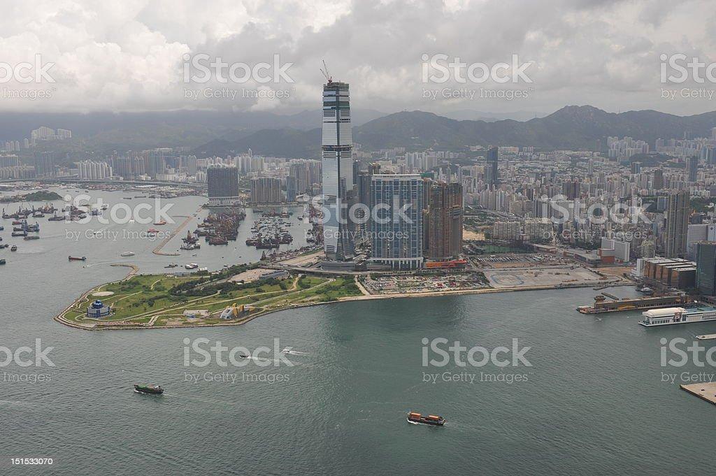 Areial view of Hong Kong stock photo