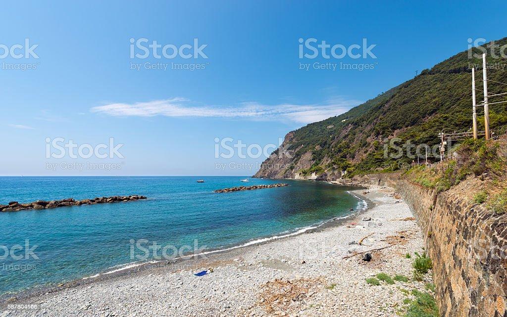 Arena Beach in Framura - Liguria Italy stock photo