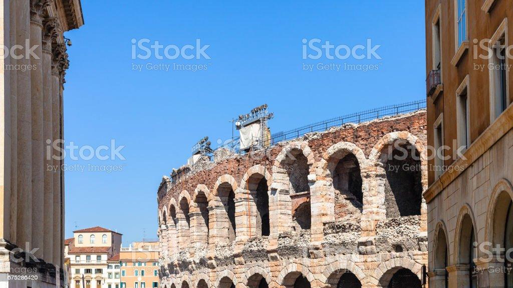 Arena di Verona ancient Roman Amphitheatre stock photo
