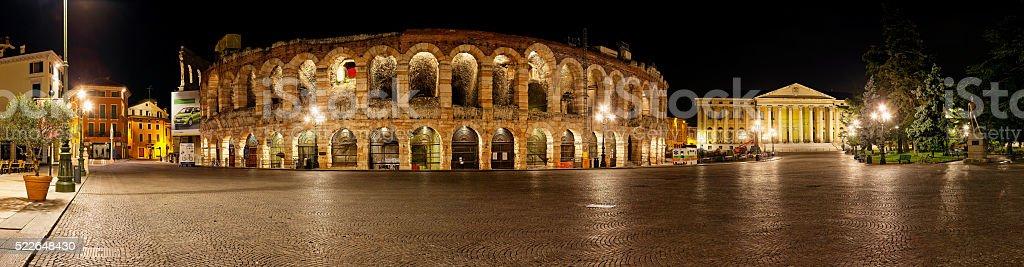 Arena di Verona by Night - Italy stock photo