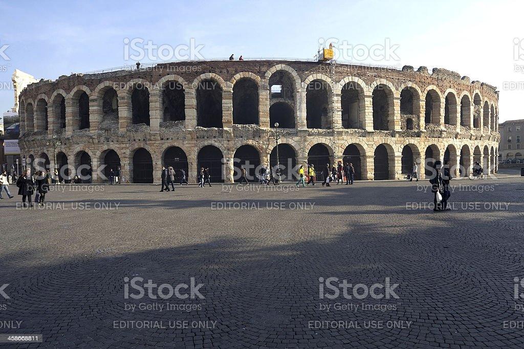Arena di Verona, Italy royalty-free stock photo