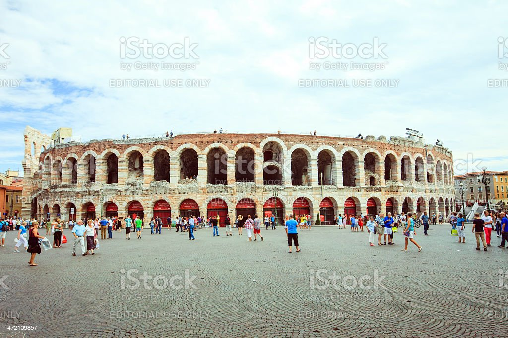 Arena di Verona, Italy royalty-free stock photo