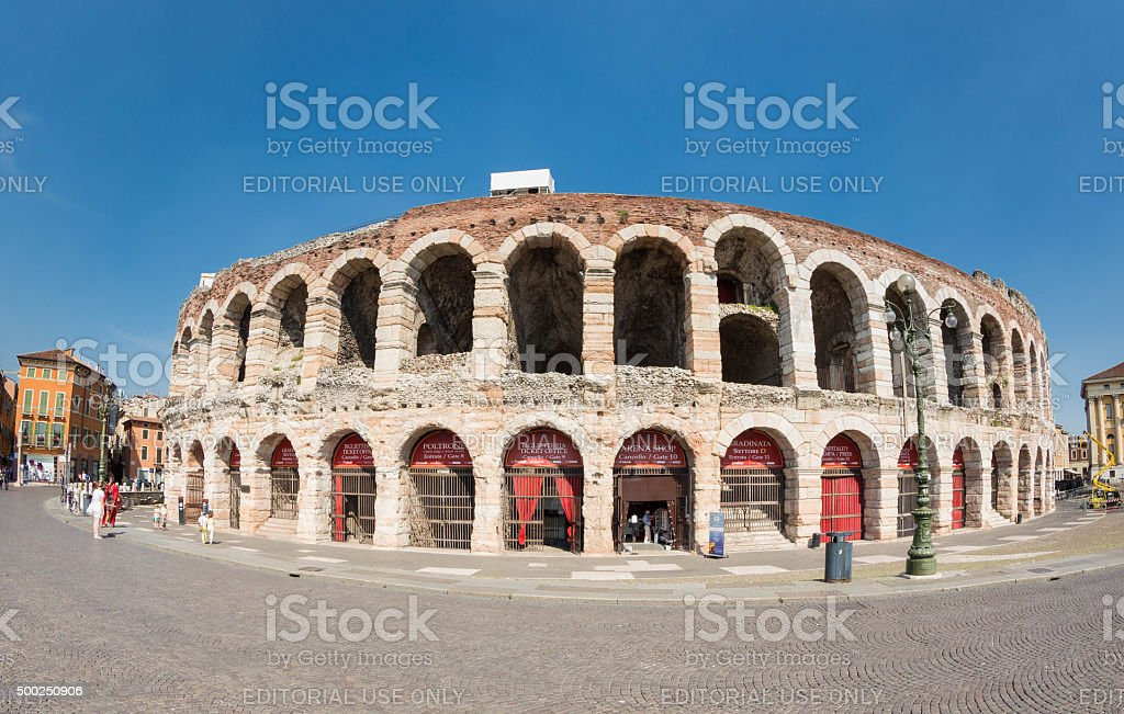 Arena di Verona, Italy stock photo