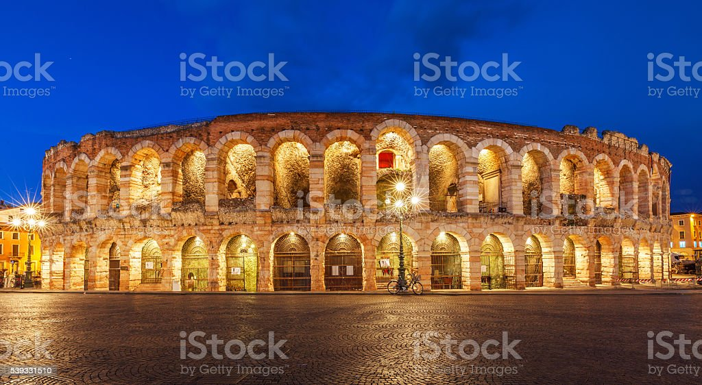 Arena di verona theatre in italy stock photo