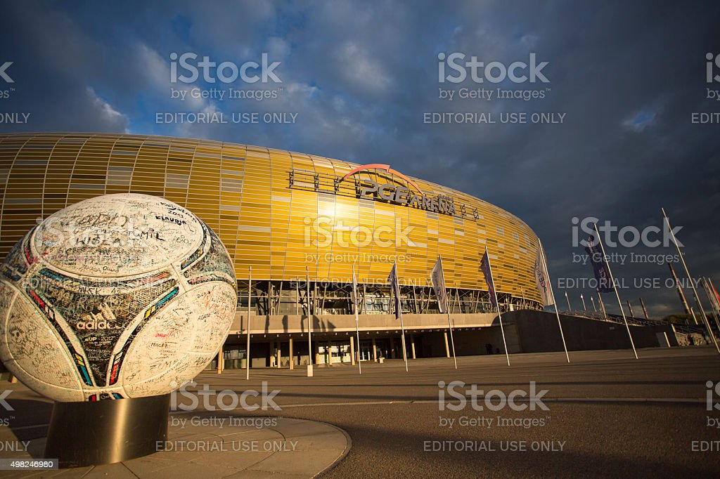Arena Football Stadium in Gdansk, Poland stock photo