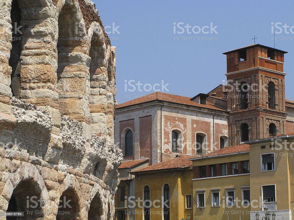 Arena (amphitheater) in Verona, Italy royalty-free stock photo