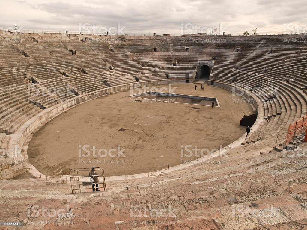Arena in Verona stock photo