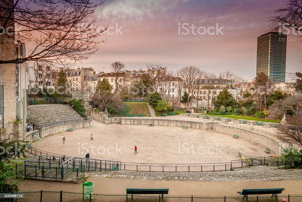 Arena of Lutetia stock photo
