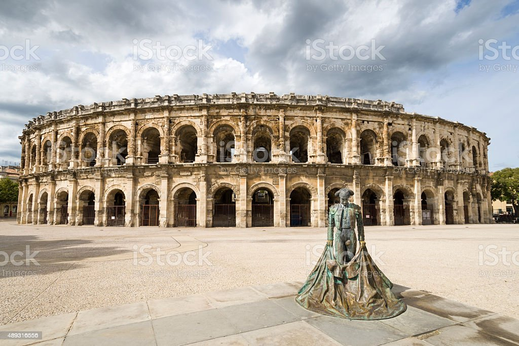 Arena of Nimes stock photo