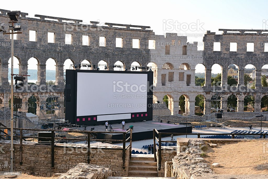 Arena of Pula stock photo