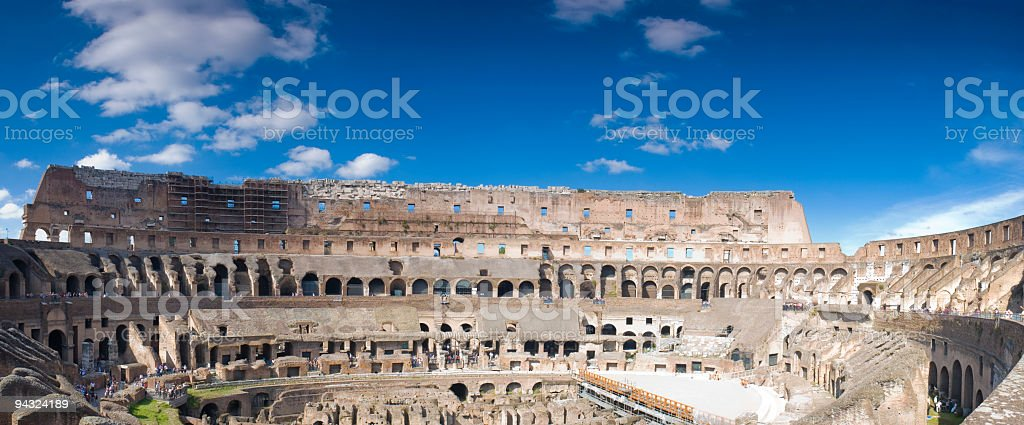 Arena of the Colosseum, Rome royalty-free stock photo
