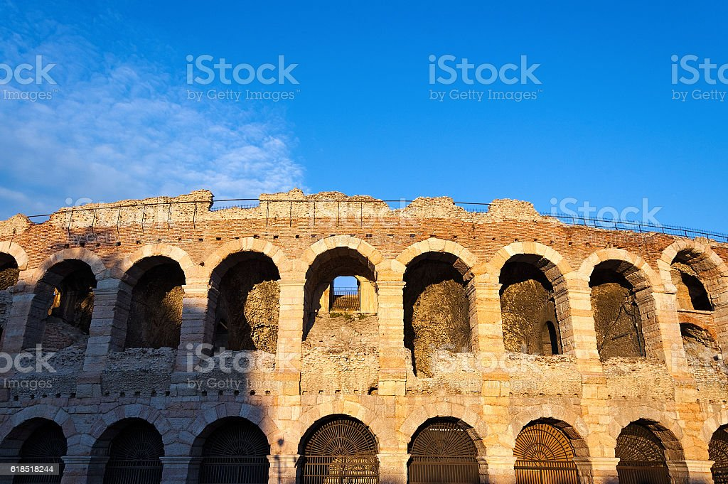 Arena of Verona at Sunset - Italy stock photo