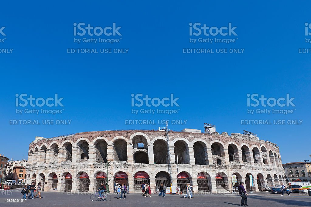 Arena of Verona, Italy stock photo