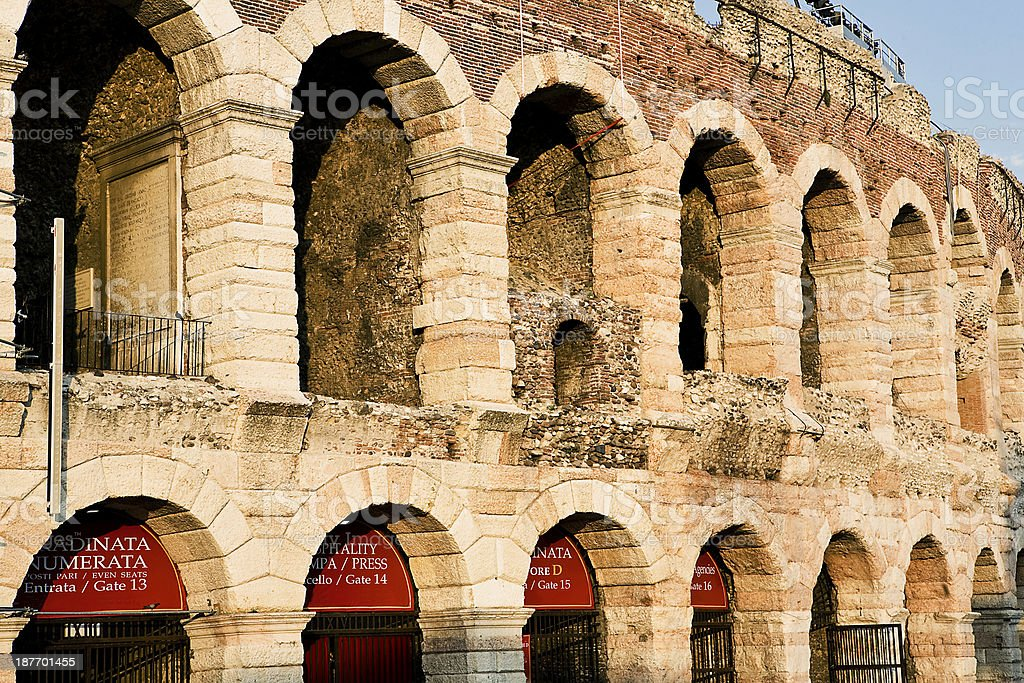 Arena of Verona stock photo