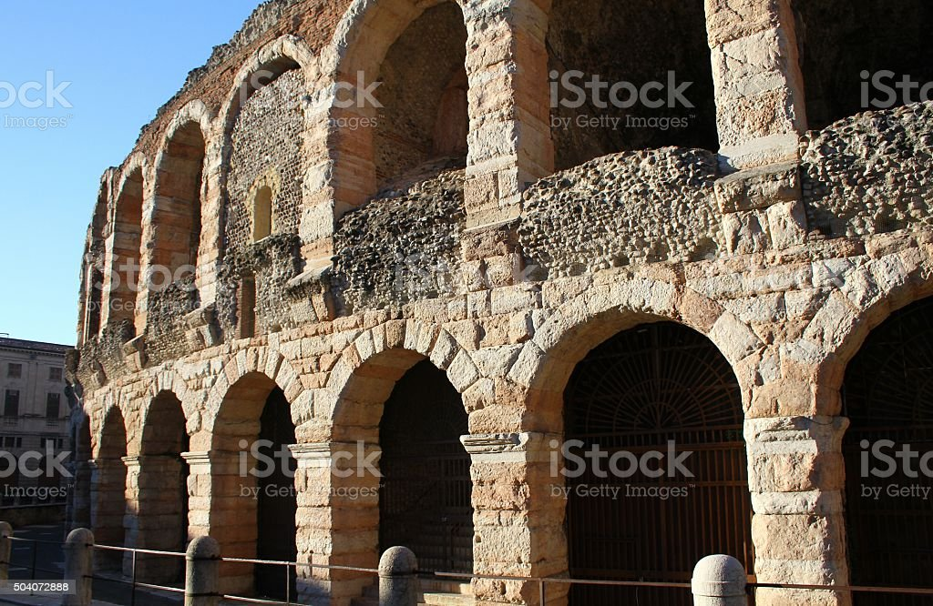 Arena of Verona. Verona, Italy stock photo