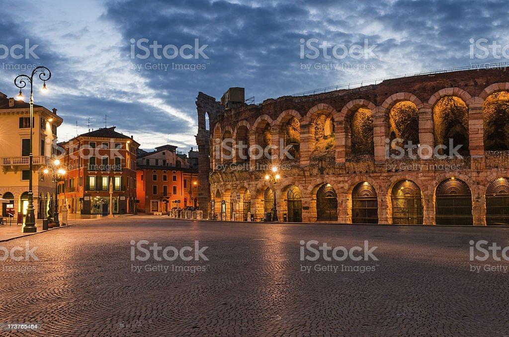 Arena, Piazza Bra, Verona amphitheatre in Italy stock photo