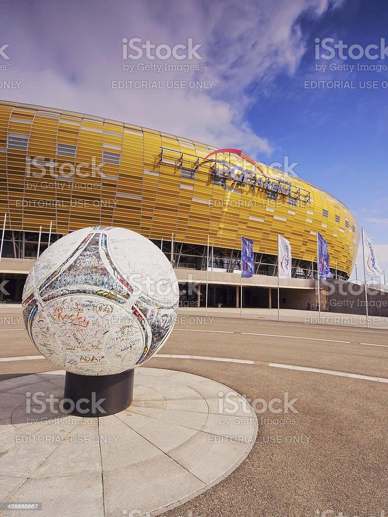 PGE Arena Stadium in Gdansk, Poland stock photo