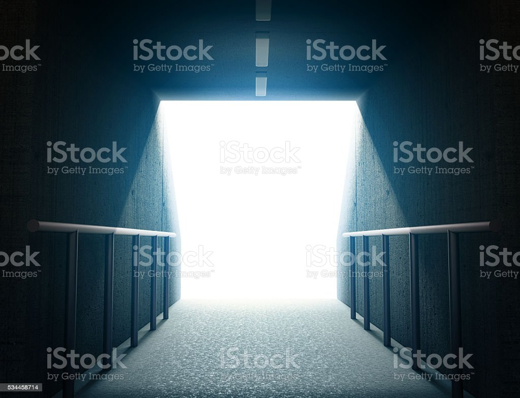 Arena tunnel 3d stock photo