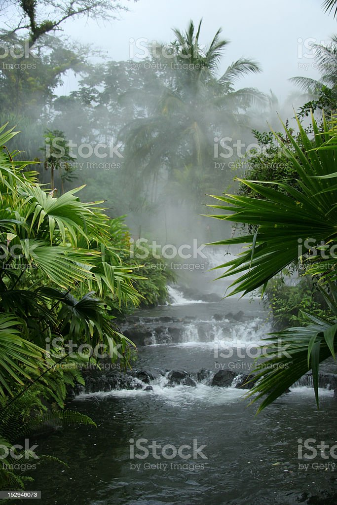 Arenal Hot Springs - Costa Rica royalty-free stock photo